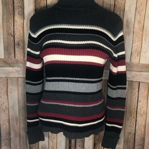 Sonoma cable striped sweater